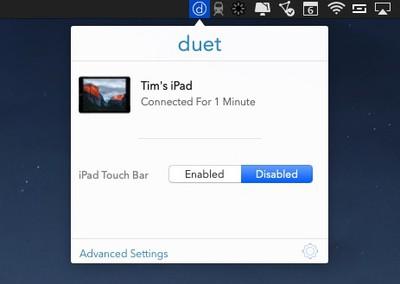 Duet display menu bar applet 1