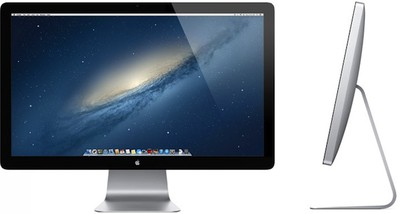 apple thunderbolt display front side