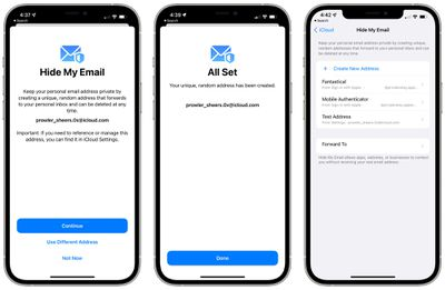 hide my email demonstration ios 15