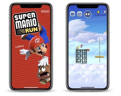 super mario run iphone x