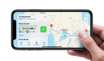 apple maps sweden denmark