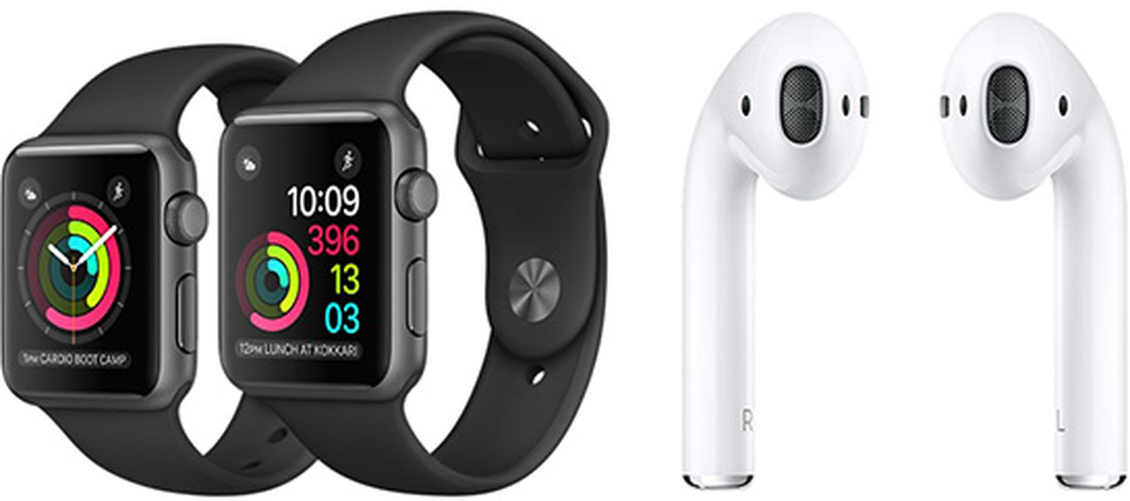 apple watch airpods.'