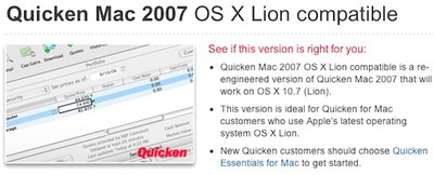 quicken mac lion available