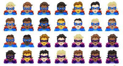 emoji 11 superheroes