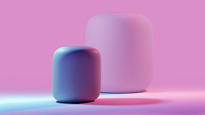 Smaller HomePod feature pink copy