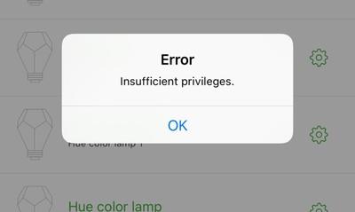 insufficientprivileges