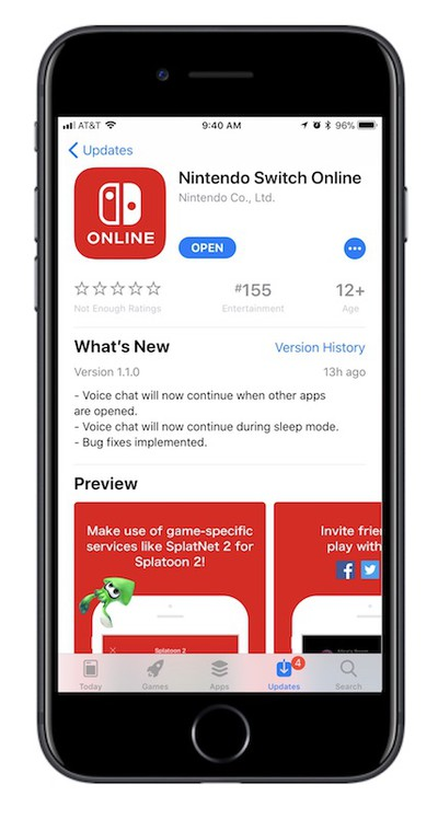 switch app online features
