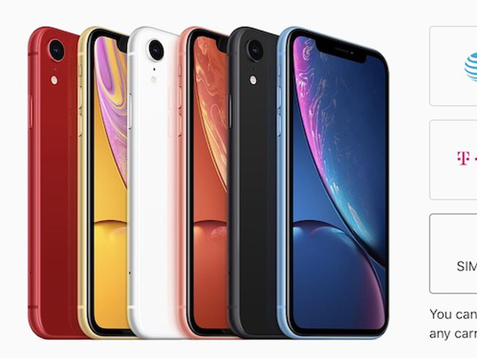 Iphone Xr Now Available Sim Free In The United States Macrumors