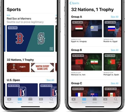 apple tv app sports canada