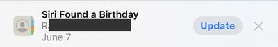 siri sugerencia cumpleaños ios 15