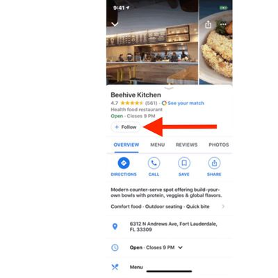 google maps image update follow