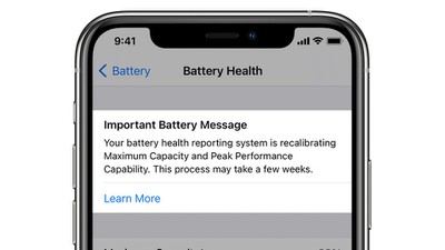 battery health recalibration