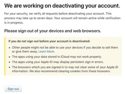 working on deactivation