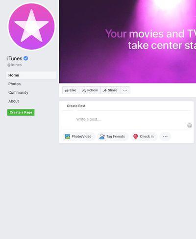 itunes facebook blank