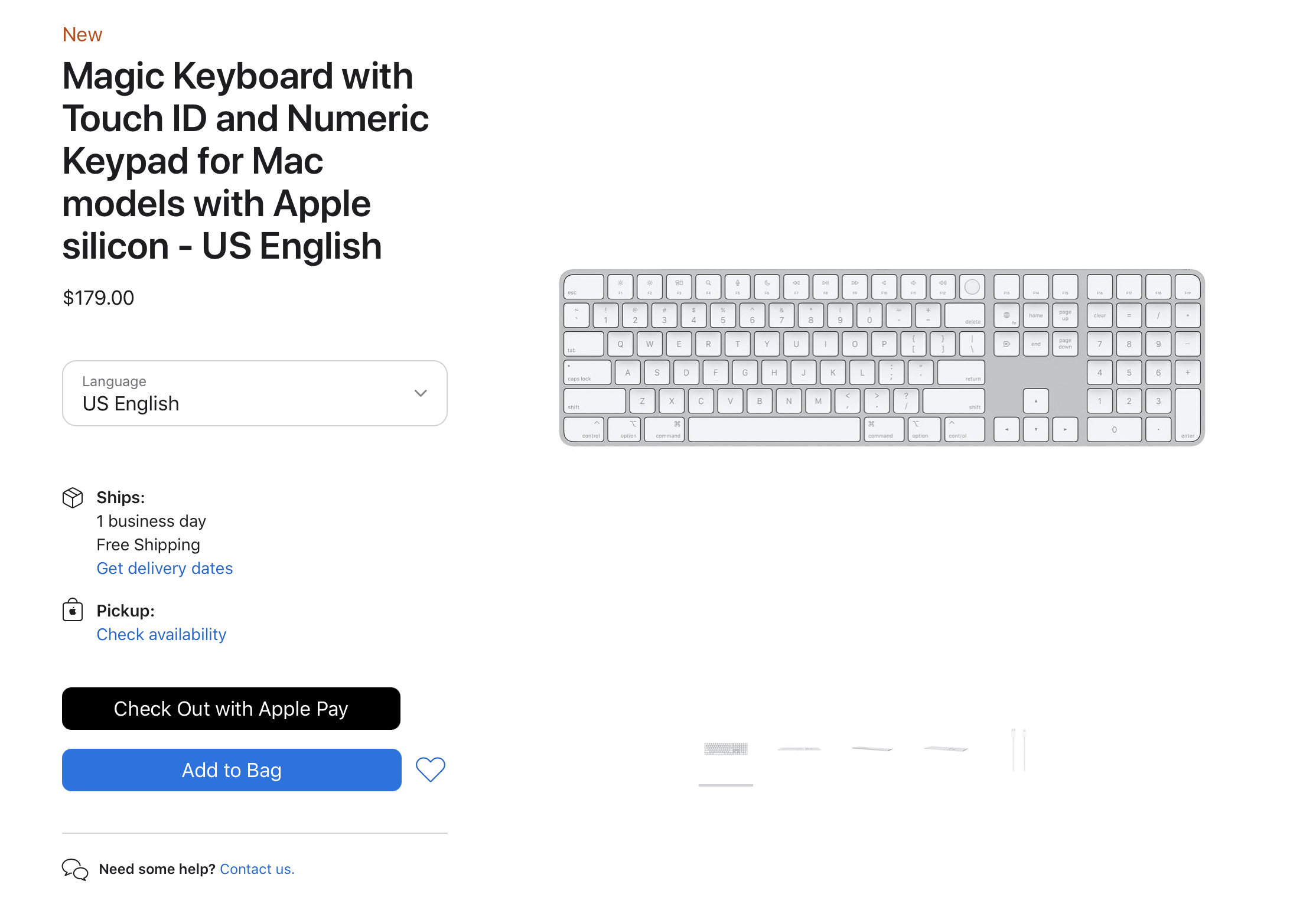 Apple Makes Magic Keyboard With Touch ID Available for Separate Purchase