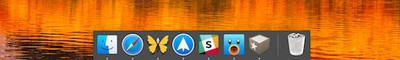 mac dock only active apps