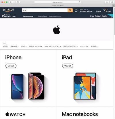 apple amazon store