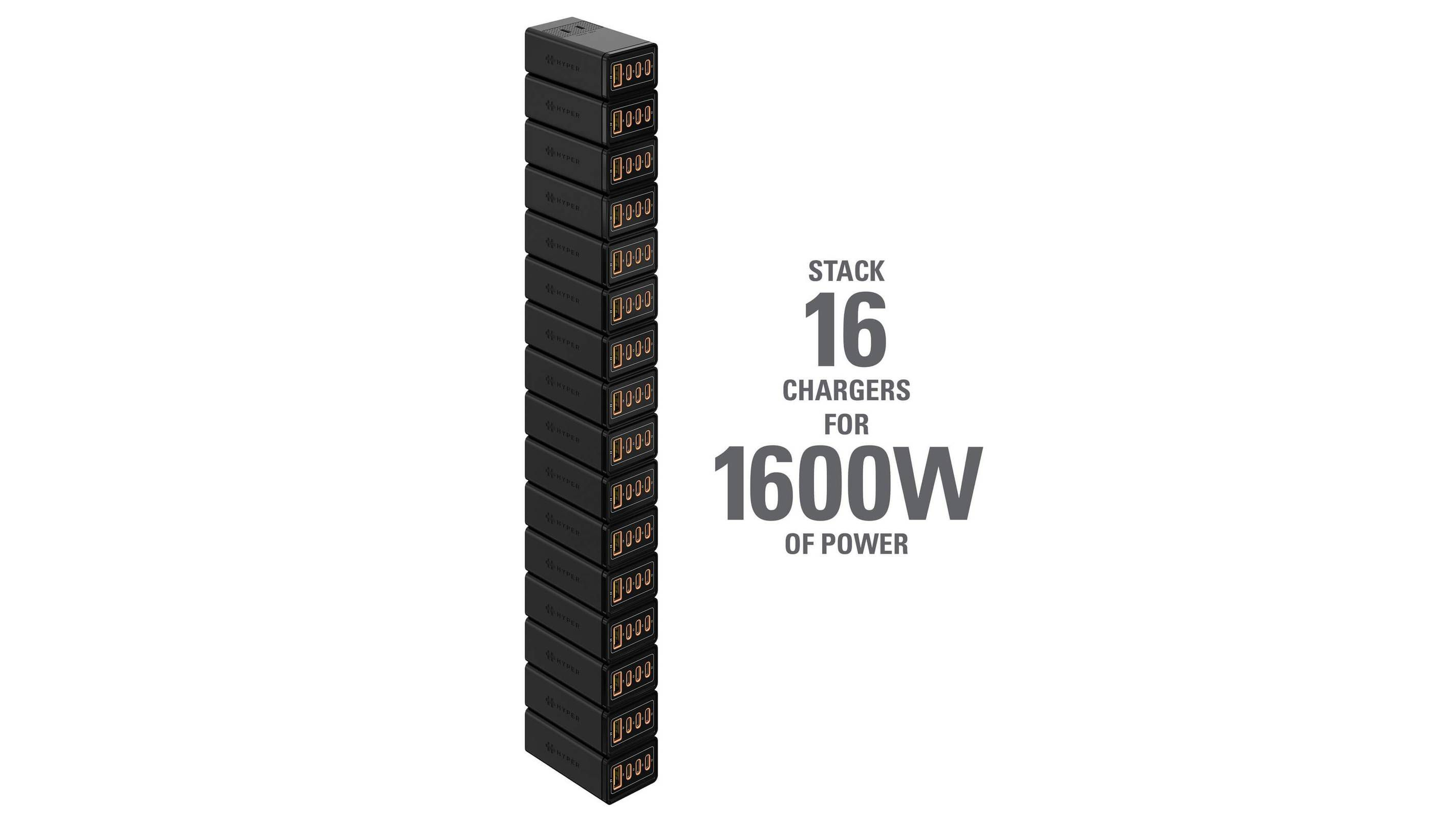 Hyper Releases Stackable GaN Chargers With Up to 1600W of Power From a Single Wall Outlet