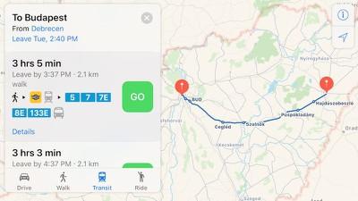 budapest apple maps transit 2