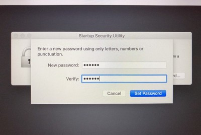 set a firmware password on your mac 4