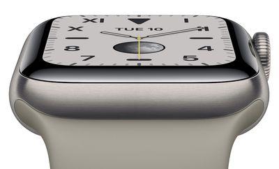 apple watch series 5 titanium no background