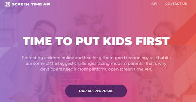 time to put kids first screen time api
