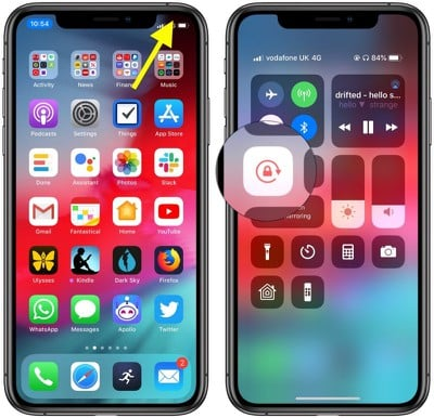 iphone orientation lock