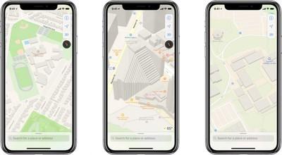apple maps sports building parking