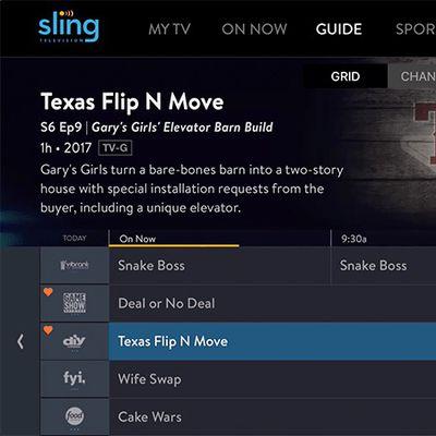sling tv grid guide