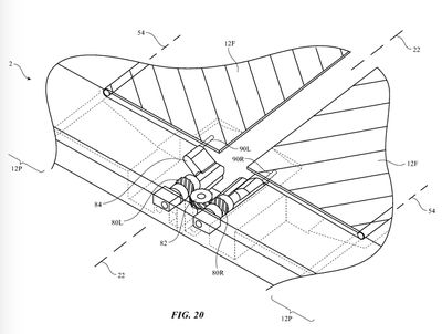 apple patent foldable device movable flaps 1