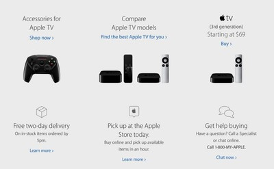 Apple TV comparison