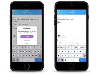 snapchat message delete