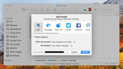how to share icloud files on mac02