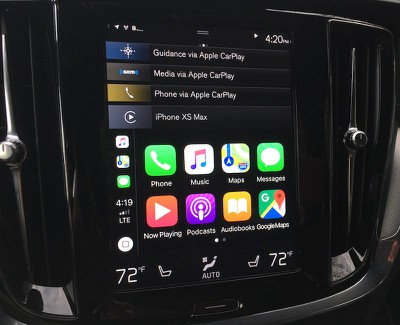 volvo s60 carplay home