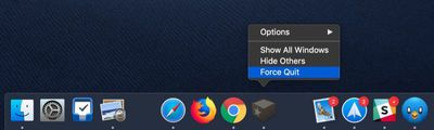 force quit apps from dock icon menu