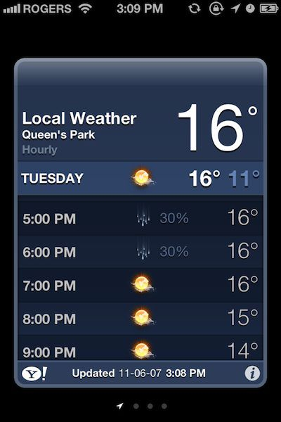 ios 5 weather hourly