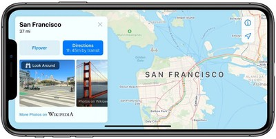 look around in maps in iOs 13