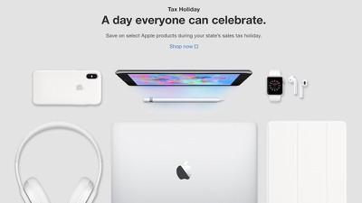 apple state sales tax holidays