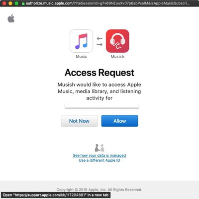 mushish web player for apple music sign in