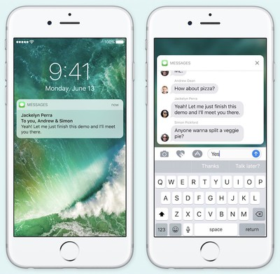 iOS 10 rich notifications