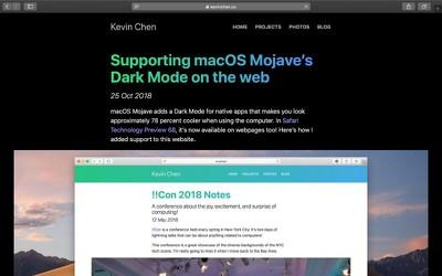 dark mode safari website