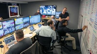apple sports surveillance room