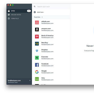 Mac web App lastpass