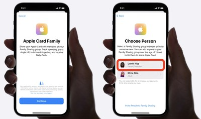 apple card family choose coowner