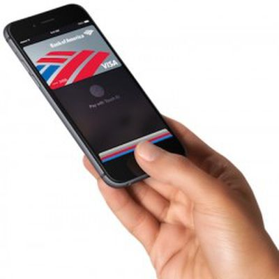 apple pay phone hand