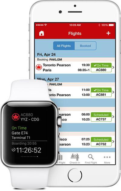 Air Canada Apple Watch