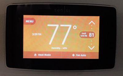 sensi touch home heating