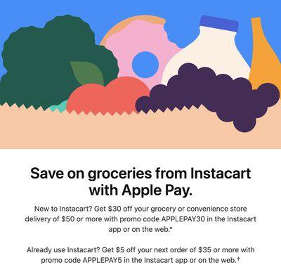 apple pay promo instacart
