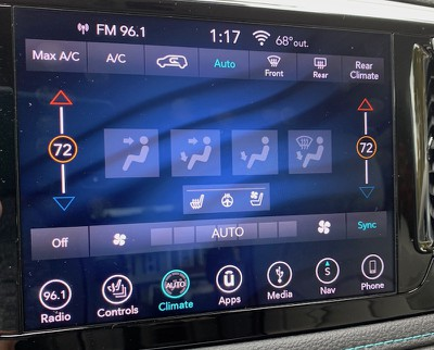 pacifica main climate control