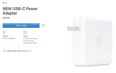 96w usb c power adapter apple